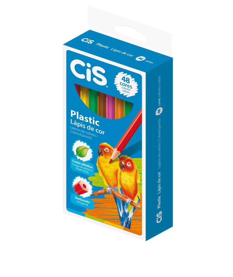 LAPIS DE COR CIS PLASTIC 48...