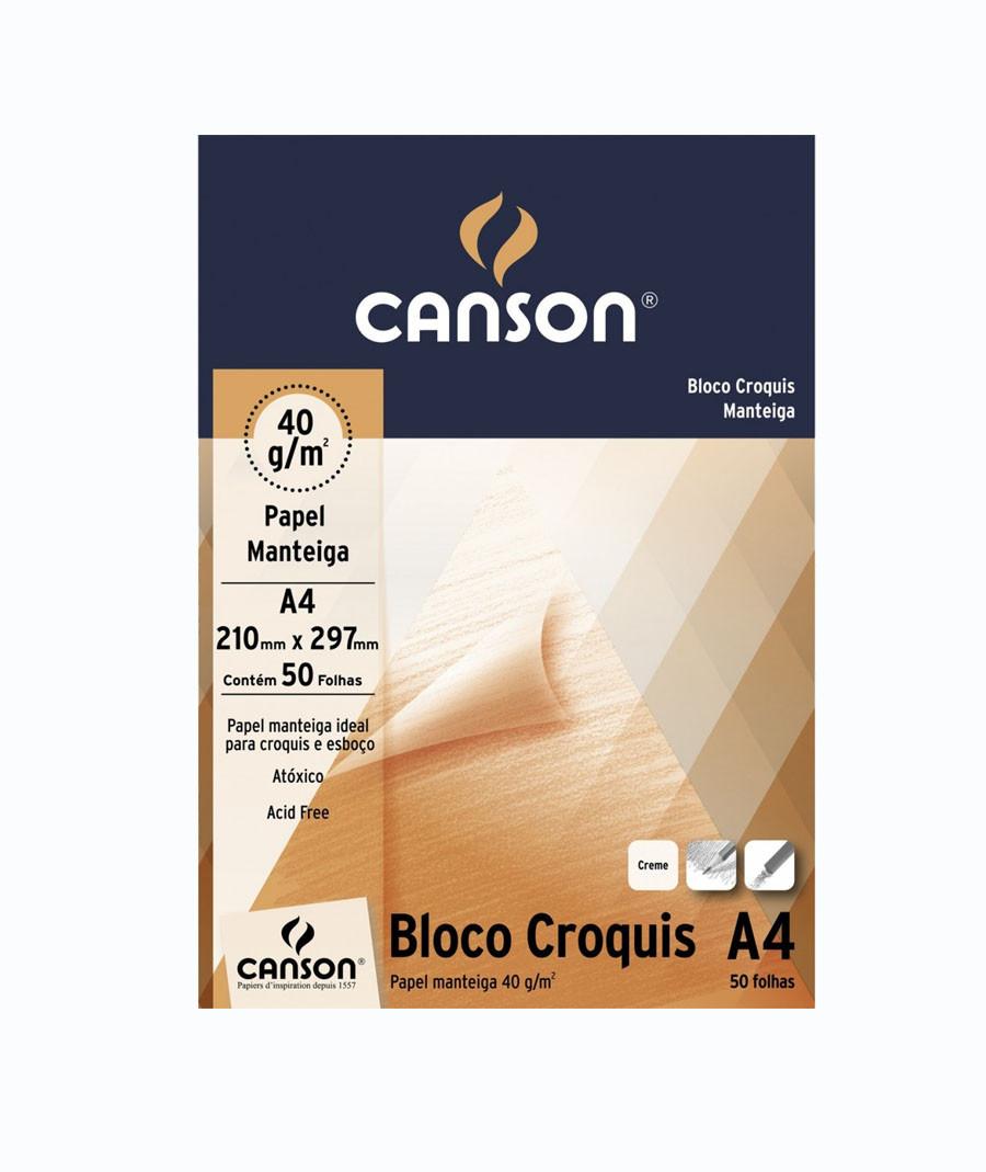 BLOCO CANSON A4 CROQUI...