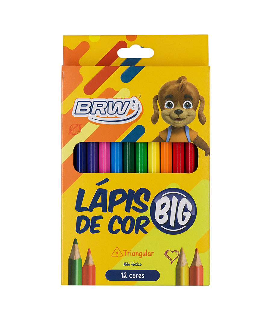 LAPIS DE COR 12 CORES JUMBO...