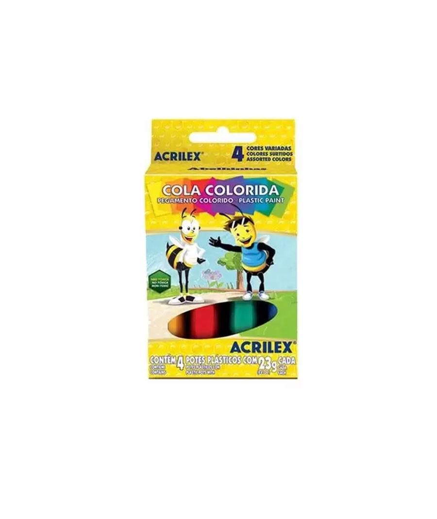 COLA ACRILEX COLORIDA C  04...