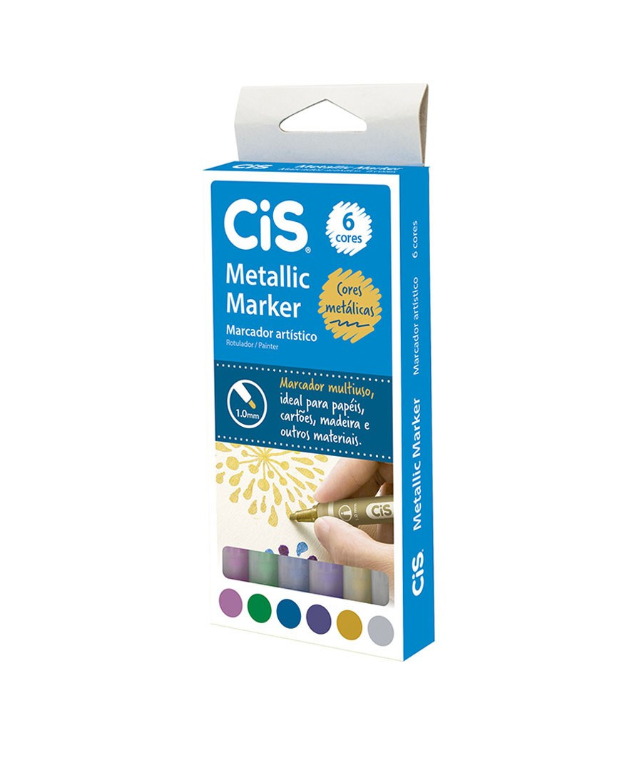 MARCADOR CIS METALLIC 6X1...